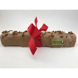 Bûche de Noël 750 g en Nougat tendre enrobé de chocolat caramel