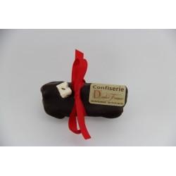 Bûchette de Noël 80 g en Nougat tendre enrobé de chocolat noir