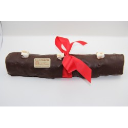 Bûche de Noël 750 g en Nougat tendre enrobé de chocolat noir