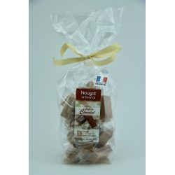 Sachet 200 g Nougat de Montélimar tendre enrobé de Chocolat caramel