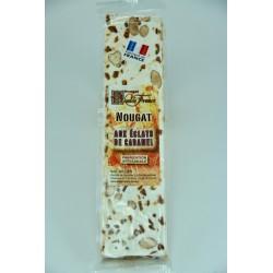 Barre 100 g Nougat tendre aux éclats de Caramel beurre salé