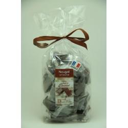 Sachet 400 g Nougat de Montélimar tendre enrobé de Chocolat Noir
