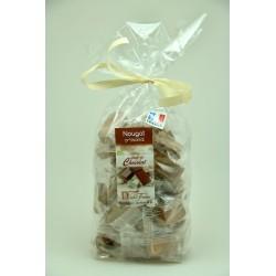 Sachet 400 g Nougat de Montélimar tendre enrobé de Chocolat caramel